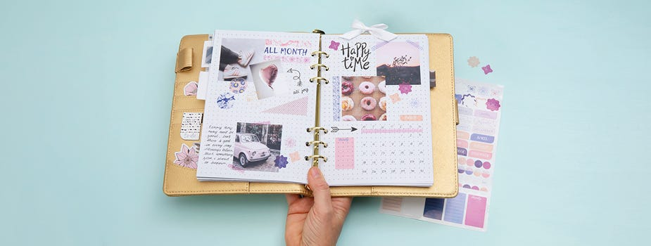 Calendars, notebooks and colouring books