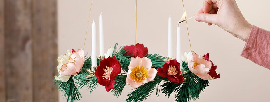 Advent wreath and advent decorations