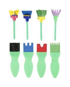 EVA Foam Paint Brushes, L: 11-13 cm, W: 30-45 mm, 24 pc/ 1 pack