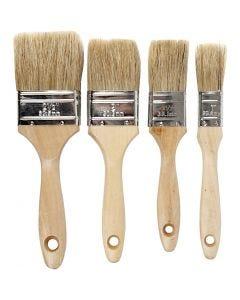 Varnish Brushes, W: 2,5-6,3 cm, 4 pc/ 1 pack