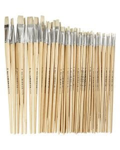 Nature Line Brushes, no. 1-20, W: 5-19 mm, long handles, 64 pc/ 1 pack