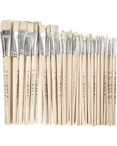 Nature Line Brushes, no. 00-20, W: 3-20 mm, short handles, 68 pc/ 1 pack