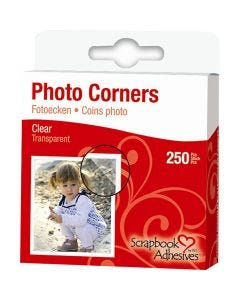 Photo Corners, W: 10 mm, clear, 250 pc/ 1 pack
