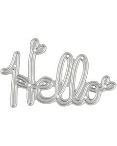 Die Cut, Hello, size 59x36 mm, 1 pc