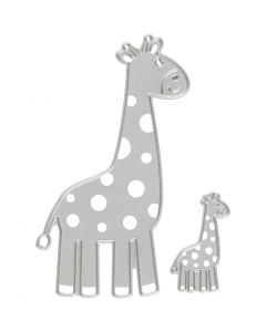 Die Cut and Embossing Folder, giraffe, size 54x92+21x35 mm, 1 pc