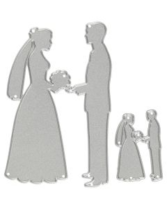 Die Cut, wedding couples, size 52x81+23x35 mm, 1 pc