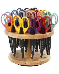 Pattern scissors, L: 16,50 cm, 1 set