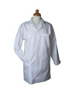 Malkittel, L: 81 cm, size medium , Sleeve Length: 59 cm , white, 1 pc