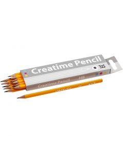 School Pencils, L: 17,5 cm, hardness HB, thickness 7 mm, 12 pc/ 1 pack