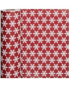 Gift wrap, ice crystals, W: 50 cm, 80 g, 100 m/ 1 roll