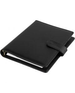 Planner, size 19x23,5x4 cm, ring folder, black, 1 pc