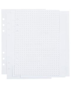 Planner pages, dots, size 142x210 mm, 36 , 120 g, white, 1 pc/ 1 pack