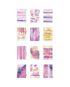 Index divider, A5, 12 , gold, purple, rose, 1 pc/ 1 pack