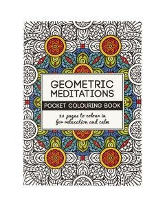 Mindfullness Colouring Book, geometric, size 10,5x14,5 cm, 20 , 1 pc