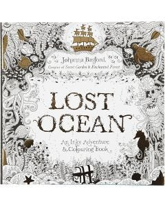 Mindfullness Colouring Book, Lost Ocean, size 25x25 cm, 80 , 1 pc