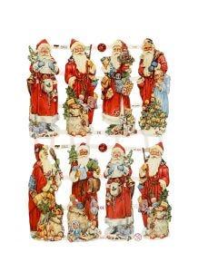 Vintage Die-Cuts, santa claus, 16,5x23,5 cm, 3 sheet/ 1 pack