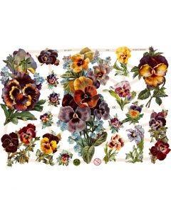 Vintage Die-Cuts, flowers, 16,5x23,5 cm, 3 sheet/ 1 pack