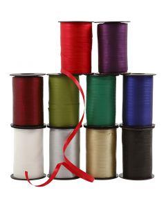 Curling Ribbon, W: 10 mm, matt, 10x250 m/ 1 pack