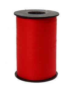 Curling Ribbon, W: 10 mm, matt, red, 250 m/ 1 roll