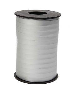 Curling Ribbon, W: 10 mm, matt, silver, 250 m/ 1 roll