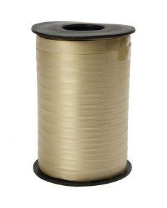 Curling Ribbon, W: 10 mm, matt, gold, 250 m/ 1 roll