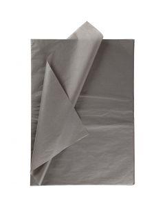 Tissue Paper, 50x70 cm, 14 g, dark grey, 10 sheet/ 1 pack