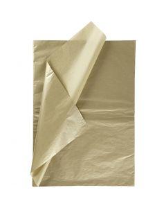 Tissue Paper, 50x70 cm, 14 g, gold, 6 sheet/ 1 pack