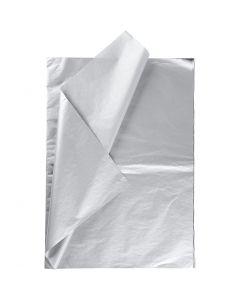 Tissue Paper, 50x70 cm, 14 g, silver, 6 sheet/ 1 pack