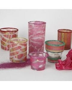 Beautiful decorated candle holders