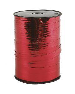 Curling Ribbon, W: 10 mm, glossy, metallic red, 250 m/ 1 roll