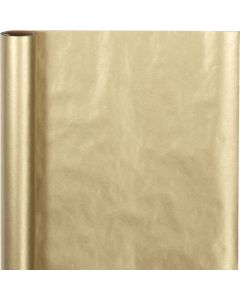 Wrapping Paper, W: 50 cm, 60 g, gold, 5 m/ 1 roll