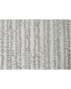 Vellum Paper, music notes, A4, 210x297 mm, 115 g, 10 sheet/ 1 pack
