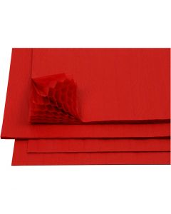 Honeycomb paper, 28x17,8 cm, red, 8 sheet/ 1 pack