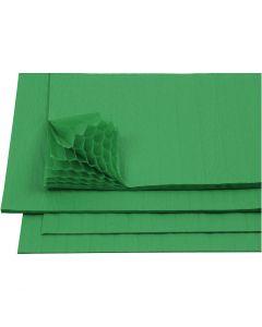 Honeycomb paper, 28x17,8 cm, green, 8 sheet/ 1 pack