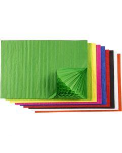 Honeycomb paper, 48 ass sheets/ 1 pack