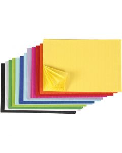 Honeycomb paper, 28x17,8 cm, assorted colours, 72 pc/ 1 pack
