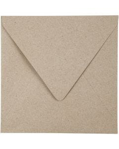 Recycled Envelopes, envelope size 16x16 cm, 120 g, natural, 50 pc/ 1 pack