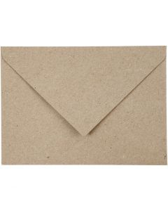 Recycled Envelopes, envelope size 11,5x16 cm, 120 g, beige, 50 pc/ 1 pack