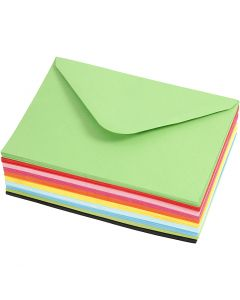 Coloured Envelopes, envelope size 11,5x16 cm, 80 g, 10x10 pc/ 1 pack