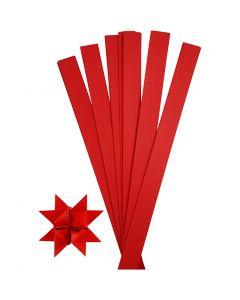 Paper Star Strips, L: 73 cm, D: 11,5 cm, W: 25 mm, red, 100 strips/ 1 pack