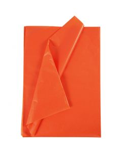 Tissue Paper, 50x70 cm, 17 g, orange, 25 sheet/ 1 pack