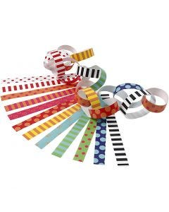 Paper Chains, Pattern, L: 16 cm, W: 15 mm, 400 pc/ 1 pack