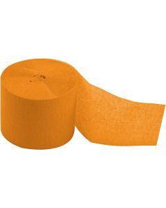 Crepe Paper Streamers, L: 20 m, W: 5 cm, yellow, 20 roll/ 1 pack