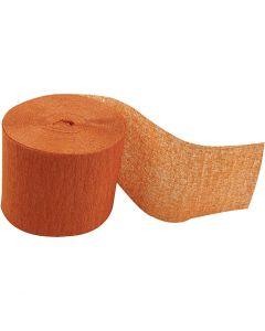 Crepe Paper Streamers, L: 20 m, W: 5 cm, orange, 20 roll/ 1 pack