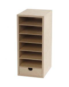 Paper Storage Unit, H: 31,5 cm, W: 14 cm, A6, 1 pc