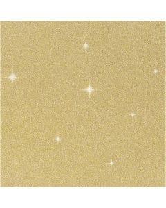 Glitter Film, W: 35 cm, thickness 110 my, gold, 2 m/ 1 roll