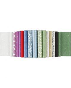 Glitter Paper Pad, A4, 210x297 mm, 150 g, 30 sheet/ 1 pc