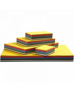 Creative Card, A3,A4,A5,A6, 180 g, assorted colours, 1500 ass sheets/ 1 pack