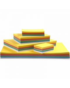 Happy Card, A2,A3,A4,A5,A6, 180 g, assorted colours, 1800 ass sheets/ 1 pack