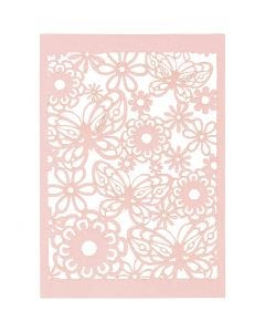 Lace Patterned cardboard, 10,5x15 cm, 200 g, light red, 10 pc/ 1 pack
